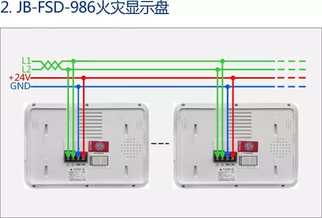 泛海三江消防产品接线示意图