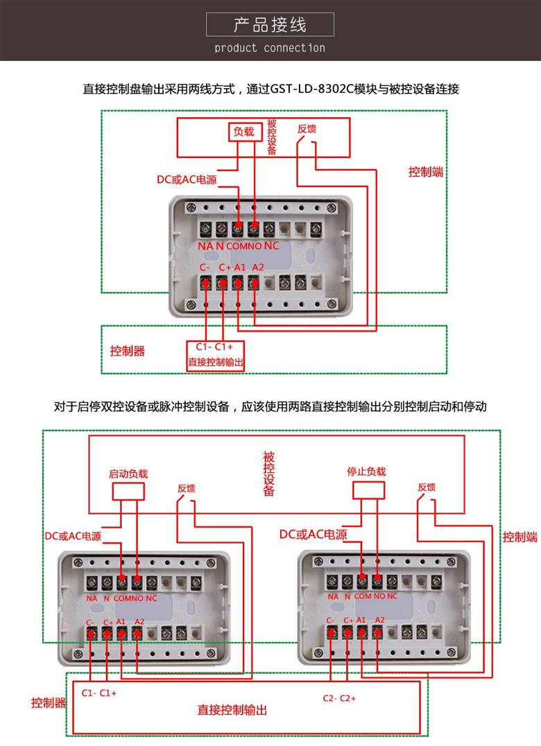 GST-LD-8302C切換模塊接線