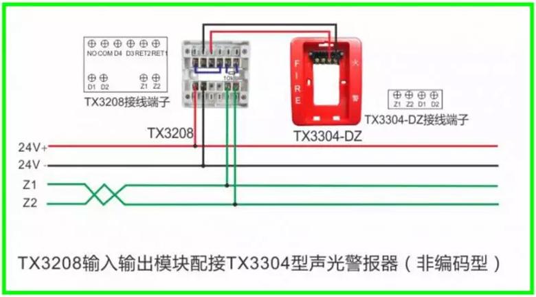 泰和安消防 火灾报警产品接线示意图