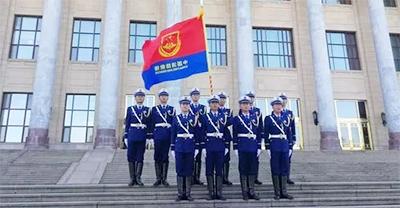 消防救援队伍授旗