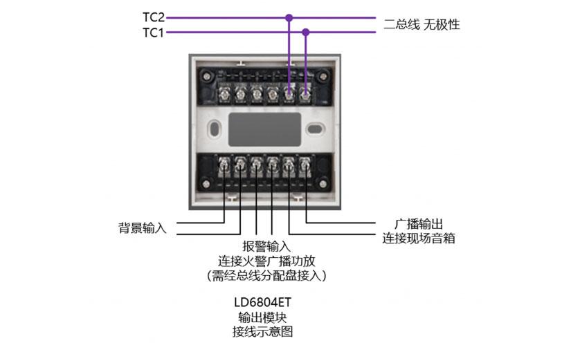 LD6804ET输出模块接线